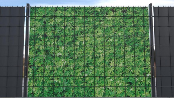 Sichtschutz für Gittermattenzaun Hecke grün Textur A zaunblick ztp001 a