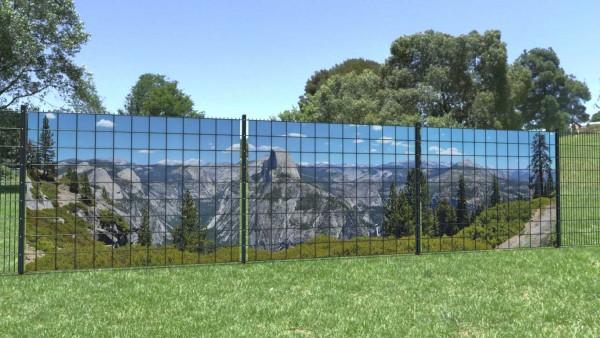 Sichtschutzstreifen Berge weite Sicht Nationalpark Panorama zaunblick zp002 A