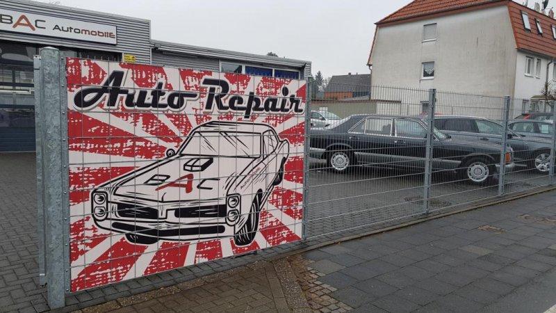 BAC Automobile Sichschutzzaun in Zink