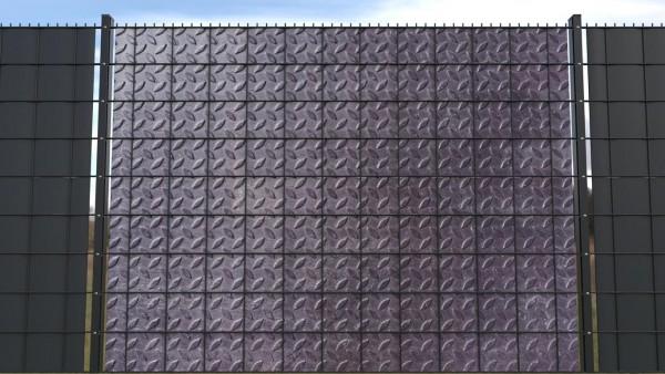 Sichtschutzstreifen für Doppelstabmatten Metall Blech Metalltextur ztm001 a
