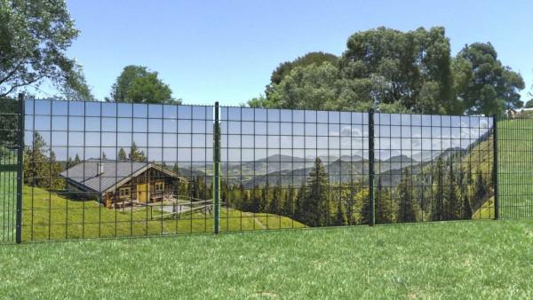 Sichtschutzstreifen Berge weite Sicht Berghuette Panorama zaunblick zp003 A