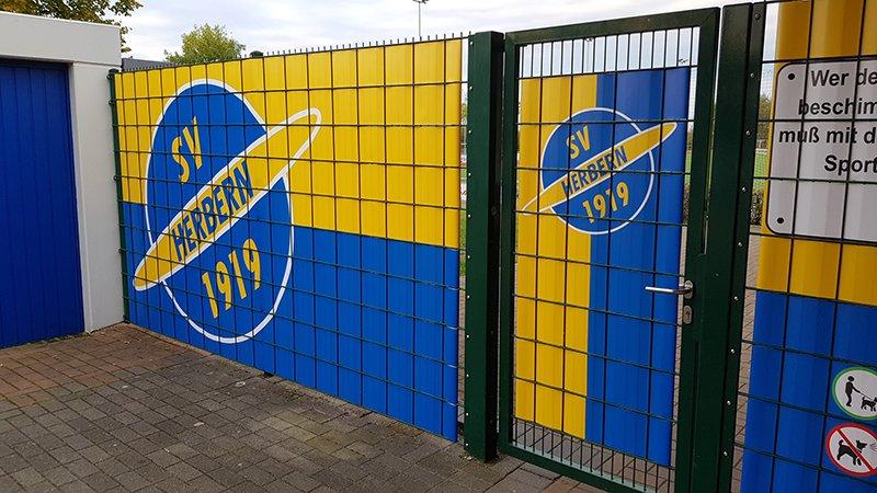 Sportanlage Sichtschutz und Windschutz von Zaunblick beim SV Herbern