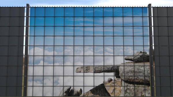 Sichtschutz für Gittermatten Felsen und Himmel zaunblick zlb001 a