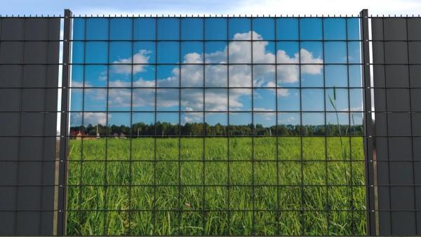 Sichtschutz für Doppelstabmatten Wiesenlandschaft hohes Gras zaunblick zlwf002 a