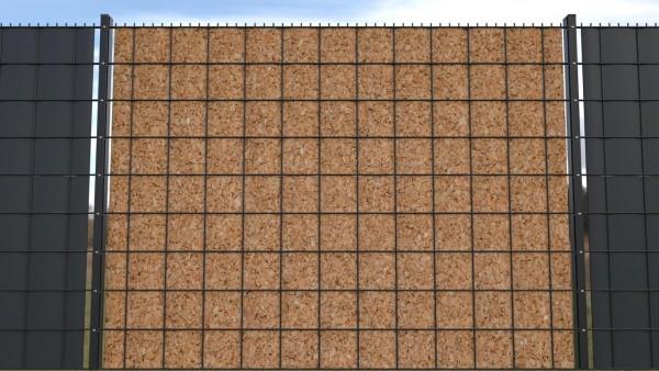 Sichtschutz für Doppelstabmatten Kork Textur Korkwand zaunblick zth003 a