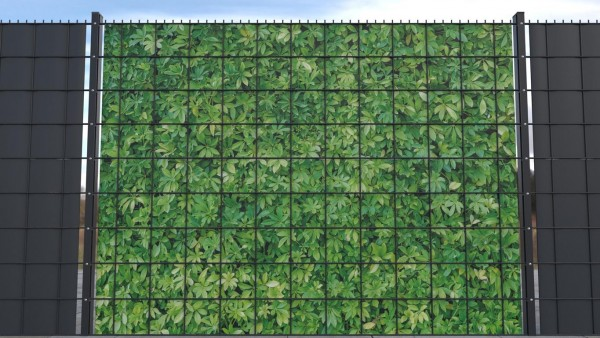 Sichtschutz für Gittermattenzaun Hecke grün Textur B zaunblick ztp002 a