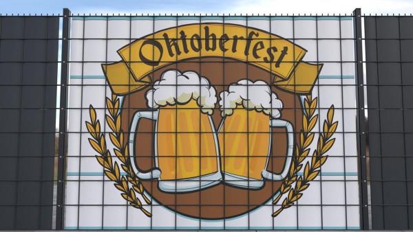 Sichtschutz für Doppelstabmatten Oktoberfest Bierkrüge zso001 a